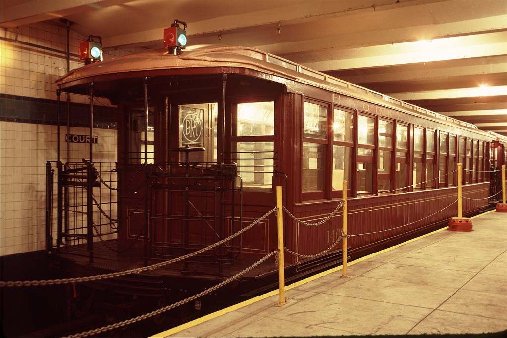 (193k, 1024x684)<br><b>Country:</b> United States<br><b>City:</b> New York<br><b>System:</b> New York City Transit<br><b>Location:</b> New York Transit Museum<br><b>Car:</b> BMT Elevated Gate Car 1407 <br><b>Photo by:</b> Doug Grotjahn<br><b>Collection of:</b> Joe Testagrose<br><b>Date:</b> 9/14/1979<br><b>Viewed (this week/total):</b> 2 / 281