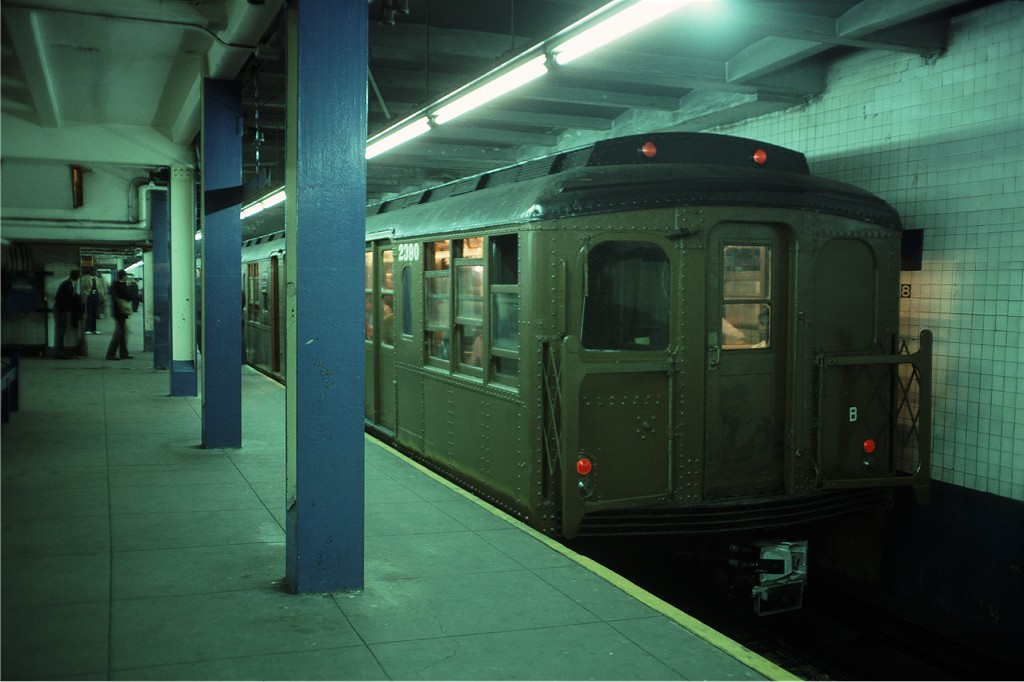 (143k, 1024x682)<br><b>Country:</b> United States<br><b>City:</b> New York<br><b>System:</b> New York City Transit<br><b>Line:</b> IND 8th Avenue Line<br><b>Location:</b> 168th Street <br><b>Route:</b> Fan Trip<br><b>Car:</b> BMT A/B-Type Standard 2390 <br><b>Photo by:</b> Doug Grotjahn<br><b>Collection of:</b> Joe Testagrose<br><b>Date:</b> 4/30/1977<br><b>Viewed (this week/total):</b> 2 / 319