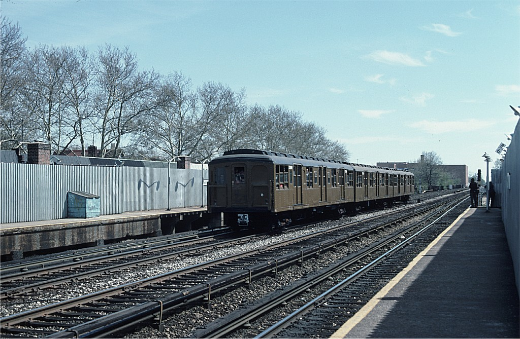 (254k, 1024x669)<br><b>Country:</b> United States<br><b>City:</b> New York<br><b>System:</b> New York City Transit<br><b>Line:</b> BMT Brighton Line<br><b>Location:</b> Avenue J <br><b>Route:</b> Fan Trip<br><b>Car:</b> BMT A/B-Type Standard 2390 <br><b>Photo by:</b> Ed McKernan<br><b>Collection of:</b> Joe Testagrose<br><b>Date:</b> 4/16/1977<br><b>Viewed (this week/total):</b> 1 / 594