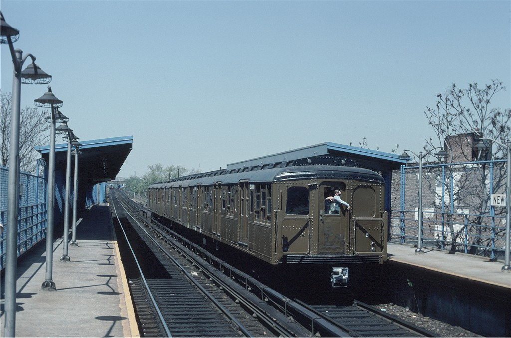 (189k, 1024x677)<br><b>Country:</b> United States<br><b>City:</b> New York<br><b>System:</b> New York City Transit<br><b>Line:</b> BMT Canarsie Line<br><b>Location:</b> New Lots Avenue <br><b>Route:</b> Fan Trip<br><b>Car:</b> BMT A/B-Type Standard 2390 <br><b>Photo by:</b> Ed McKernan<br><b>Collection of:</b> Joe Testagrose<br><b>Date:</b> 4/30/1977<br><b>Viewed (this week/total):</b> 0 / 485