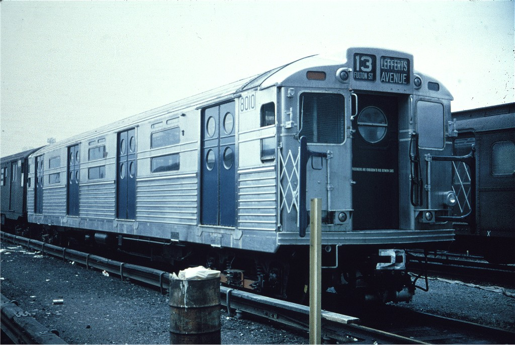 (211k, 1024x686)<br><b>Country:</b> United States<br><b>City:</b> New York<br><b>System:</b> New York City Transit<br><b>Location:</b> Coney Island Yard<br><b>Car:</b> R-11 (Budd, 1949) 8010 <br><b>Collection of:</b> Joe Testagrose<br><b>Viewed (this week/total):</b> 4 / 949