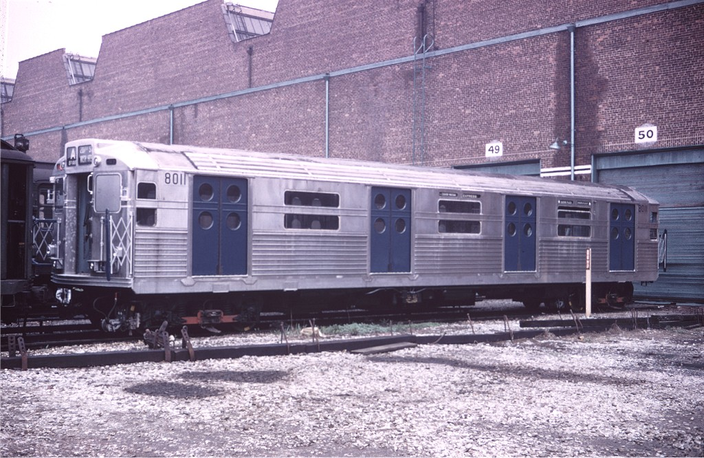 (245k, 1024x666)<br><b>Country:</b> United States<br><b>City:</b> New York<br><b>System:</b> New York City Transit<br><b>Location:</b> Coney Island Yard<br><b>Car:</b> R-11 (Budd, 1949) 8011 <br><b>Collection of:</b> Joe Testagrose<br><b>Date:</b> 5/2/1965<br><b>Viewed (this week/total):</b> 4 / 389