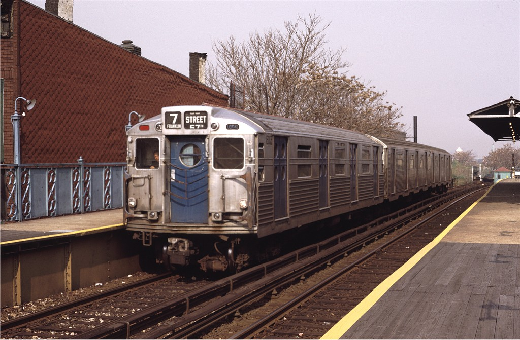 (209k, 1024x671)<br><b>Country:</b> United States<br><b>City:</b> New York<br><b>System:</b> New York City Transit<br><b>Line:</b> BMT Franklin<br><b>Location:</b> Dean Street <br><b>Route:</b> Franklin Shuttle<br><b>Car:</b> R-11 (Budd, 1949) 8013 <br><b>Photo by:</b> Joe Testagrose<br><b>Date:</b> 10/31/1971<br><b>Viewed (this week/total):</b> 12 / 1010