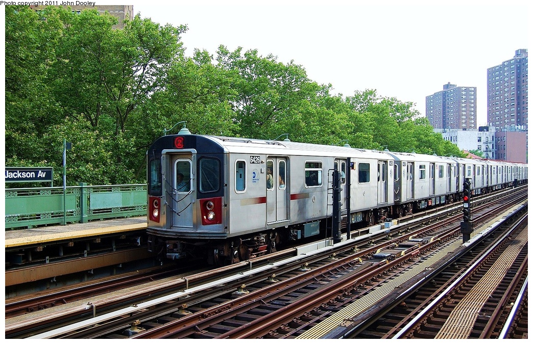 (462k, 1044x675)<br><b>Country:</b> United States<br><b>City:</b> New York<br><b>System:</b> New York City Transit<br><b>Line:</b> IRT White Plains Road Line<br><b>Location:</b> Jackson Avenue <br><b>Route:</b> 2<br><b>Car:</b> R-142 (Primary Order, Bombardier, 1999-2002)  6426 <br><b>Photo by:</b> John Dooley<br><b>Date:</b> 6/28/2011<br><b>Viewed (this week/total):</b> 0 / 454