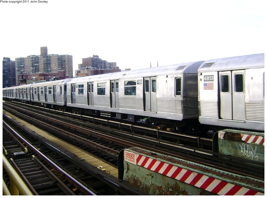 (291k, 1044x775)<br><b>Country:</b> United States<br><b>City:</b> New York<br><b>System:</b> New York City Transit<br><b>Line:</b> BMT Nassau Street/Jamaica Line<br><b>Location:</b> Flushing Avenue <br><b>Route:</b> Z<br><b>Car:</b> R-42 (St. Louis, 1969-1970)  4812 <br><b>Photo by:</b> John Dooley<br><b>Date:</b> 5/24/2011<br><b>Viewed (this week/total):</b> 0 / 147