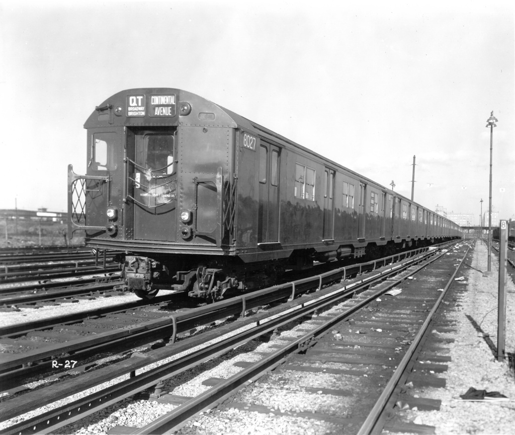 (267k, 1024x864)<br><b>Country:</b> United States<br><b>City:</b> New York<br><b>System:</b> New York City Transit<br><b>Location:</b> Coney Island Yard<br><b>Car:</b> R-27 (St. Louis, 1960)  8027 <br><b>Photo by:</b> Ed Watson/Arthur Lonto Collection<br><b>Collection of:</b> Frank Pfuhler<br><b>Viewed (this week/total):</b> 5 / 446