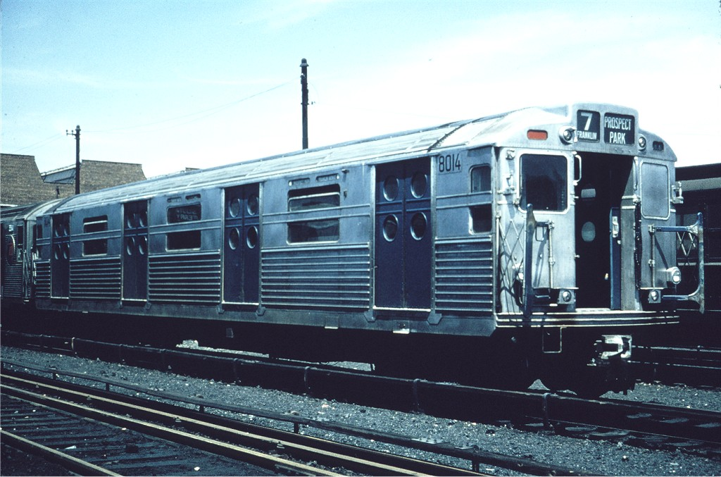(187k, 1024x677)<br><b>Country:</b> United States<br><b>City:</b> New York<br><b>System:</b> New York City Transit<br><b>Location:</b> Coney Island Yard<br><b>Car:</b> R-11 (Budd, 1949) 8014 <br><b>Collection of:</b> Joe Testagrose<br><b>Date:</b> 5/1967<br><b>Viewed (this week/total):</b> 2 / 364
