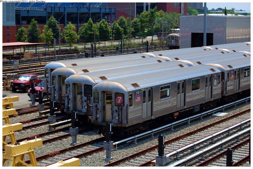 (423k, 1044x696)<br><b>Country:</b> United States<br><b>City:</b> New York<br><b>System:</b> New York City Transit<br><b>Location:</b> Corona Yard<br><b>Car:</b> R-62A (Bombardier, 1984-1987)  2130 <br><b>Photo by:</b> John Dooley<br><b>Date:</b> 6/27/2011<br><b>Viewed (this week/total):</b> 2 / 305