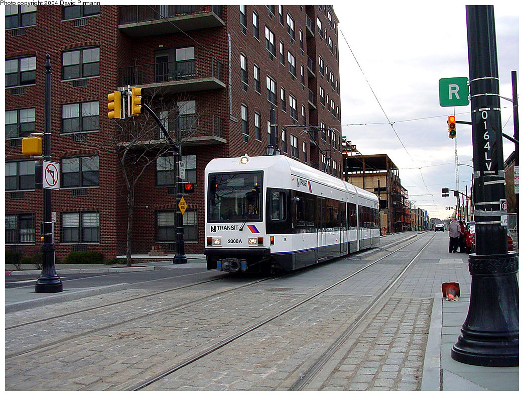 (320k, 1044x788)<br><b>Country:</b> United States<br><b>City:</b> Jersey City, NJ<br><b>System:</b> Hudson Bergen Light Rail<br><b>Location:</b> Essex Street <br><b>Car:</b> NJT-HBLR LRV (Kinki-Sharyo, 1998-99)  2008 <br><b>Photo by:</b> David Pirmann<br><b>Date:</b> 3/26/2000<br><b>Viewed (this week/total):</b> 0 / 2674
