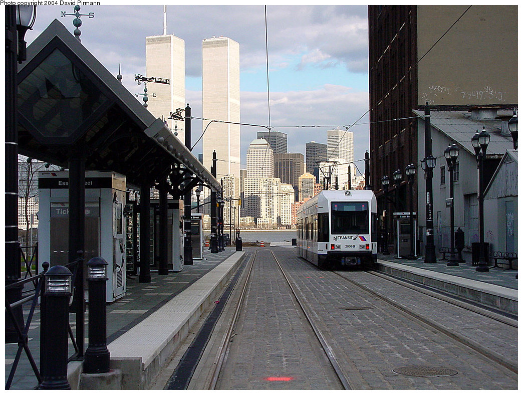 (282k, 1044x788)<br><b>Country:</b> United States<br><b>City:</b> Jersey City, NJ<br><b>System:</b> Hudson Bergen Light Rail<br><b>Location:</b> Essex Street <br><b>Car:</b> NJT-HBLR LRV (Kinki-Sharyo, 1998-99)  2008 <br><b>Photo by:</b> David Pirmann<br><b>Date:</b> 3/26/2000<br><b>Viewed (this week/total):</b> 1 / 6750