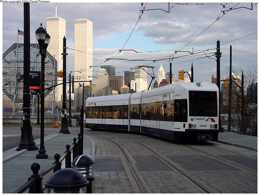 (290k, 1044x788)<br><b>Country:</b> United States<br><b>City:</b> Jersey City, NJ<br><b>System:</b> Hudson Bergen Light Rail<br><b>Location:</b> Essex Street <br><b>Car:</b> NJT-HBLR LRV (Kinki-Sharyo, 1998-99)  2008 <br><b>Photo by:</b> David Pirmann<br><b>Date:</b> 3/26/2000<br><b>Viewed (this week/total):</b> 3 / 9269