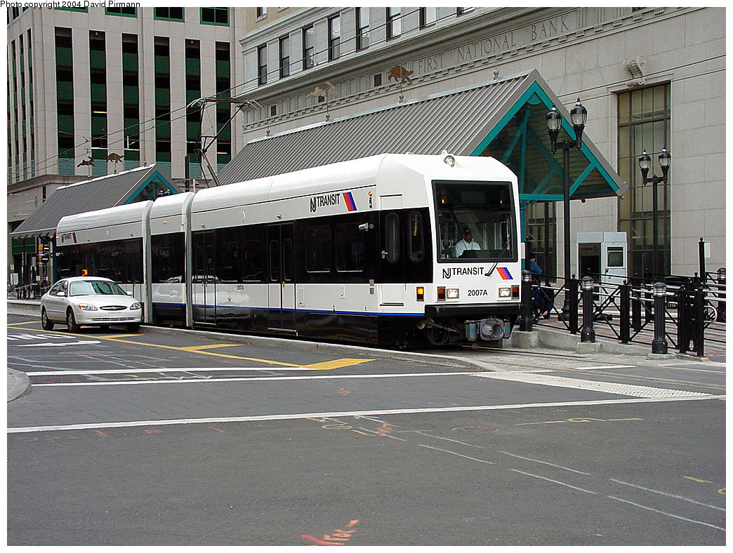 (297k, 1044x788)<br><b>Country:</b> United States<br><b>City:</b> Jersey City, NJ<br><b>System:</b> Hudson Bergen Light Rail<br><b>Location:</b> Exchange Place <br><b>Car:</b> NJT-HBLR LRV (Kinki-Sharyo, 1998-99)  2007 <br><b>Photo by:</b> David Pirmann<br><b>Date:</b> 3/26/2000<br><b>Viewed (this week/total):</b> 2 / 2207