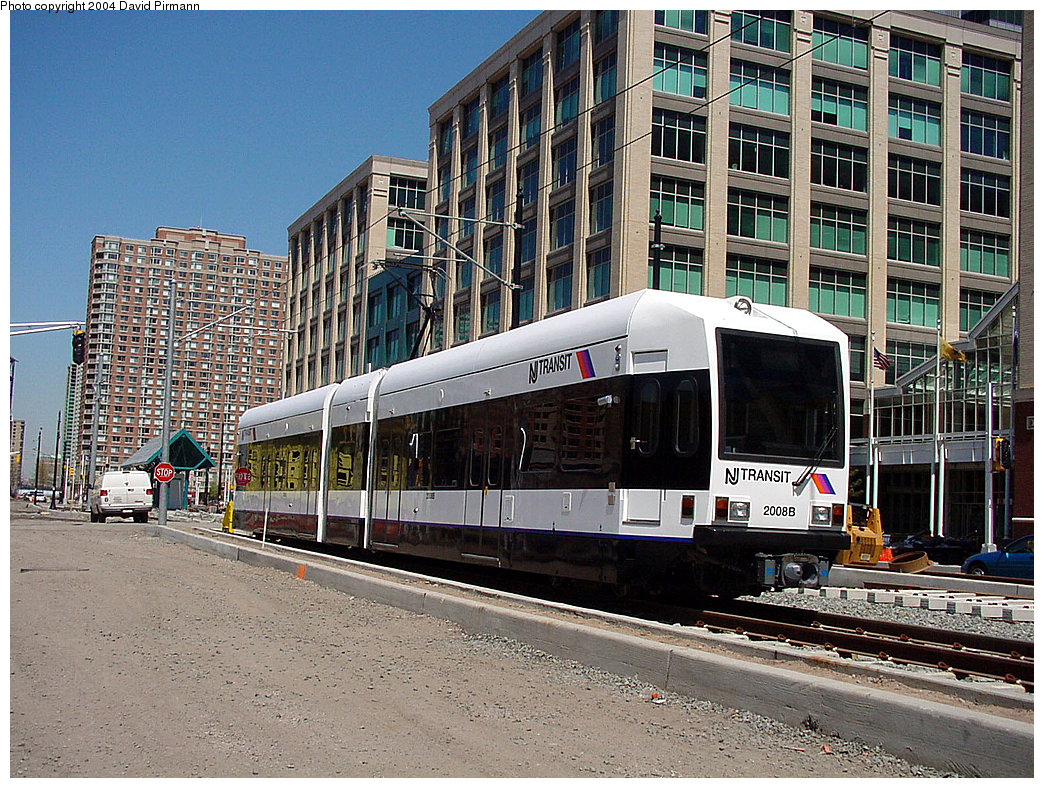 (347k, 1044x788)<br><b>Country:</b> United States<br><b>City:</b> Jersey City, NJ<br><b>System:</b> Hudson Bergen Light Rail<br><b>Location:</b> Harborside <br><b>Car:</b> NJT-HBLR LRV (Kinki-Sharyo, 1998-99)  2006 <br><b>Photo by:</b> David Pirmann<br><b>Date:</b> 4/29/2000<br><b>Viewed (this week/total):</b> 1 / 2755