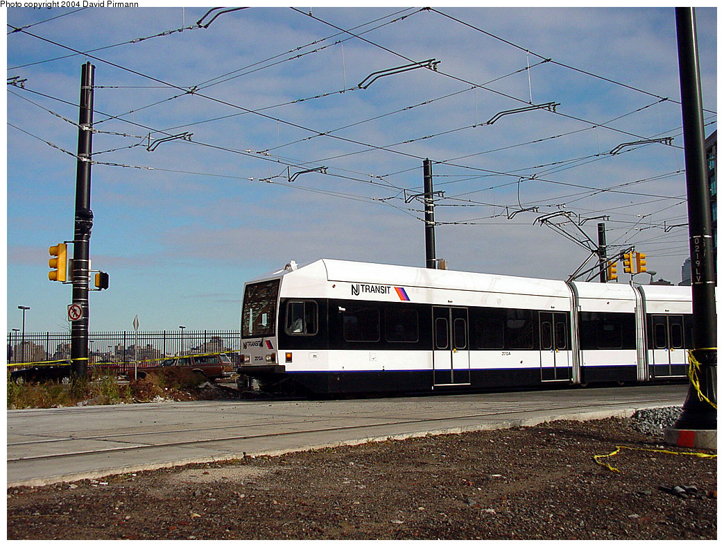 (301k, 1044x788)<br><b>Country:</b> United States<br><b>City:</b> Jersey City, NJ<br><b>System:</b> Hudson Bergen Light Rail<br><b>Location:</b> Harborside <br><b>Car:</b> NJT-HBLR LRV (Kinki-Sharyo, 1998-99)  2013 <br><b>Photo by:</b> David Pirmann<br><b>Date:</b> 11/12/2000<br><b>Viewed (this week/total):</b> 0 / 2761