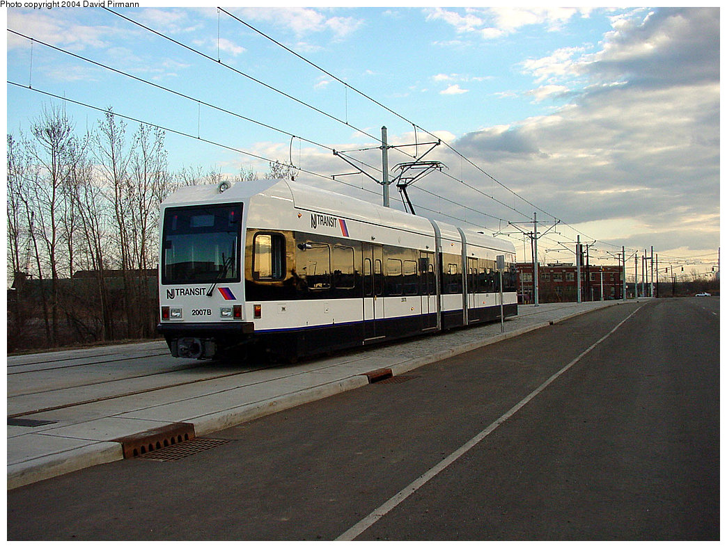 (275k, 1044x788)<br><b>Country:</b> United States<br><b>City:</b> Jersey City, NJ<br><b>System:</b> Hudson Bergen Light Rail<br><b>Location:</b> Jersey Avenue <br><b>Car:</b> NJT-HBLR LRV (Kinki-Sharyo, 1998-99)  2007 <br><b>Photo by:</b> David Pirmann<br><b>Date:</b> 3/26/2000<br><b>Viewed (this week/total):</b> 1 / 2488