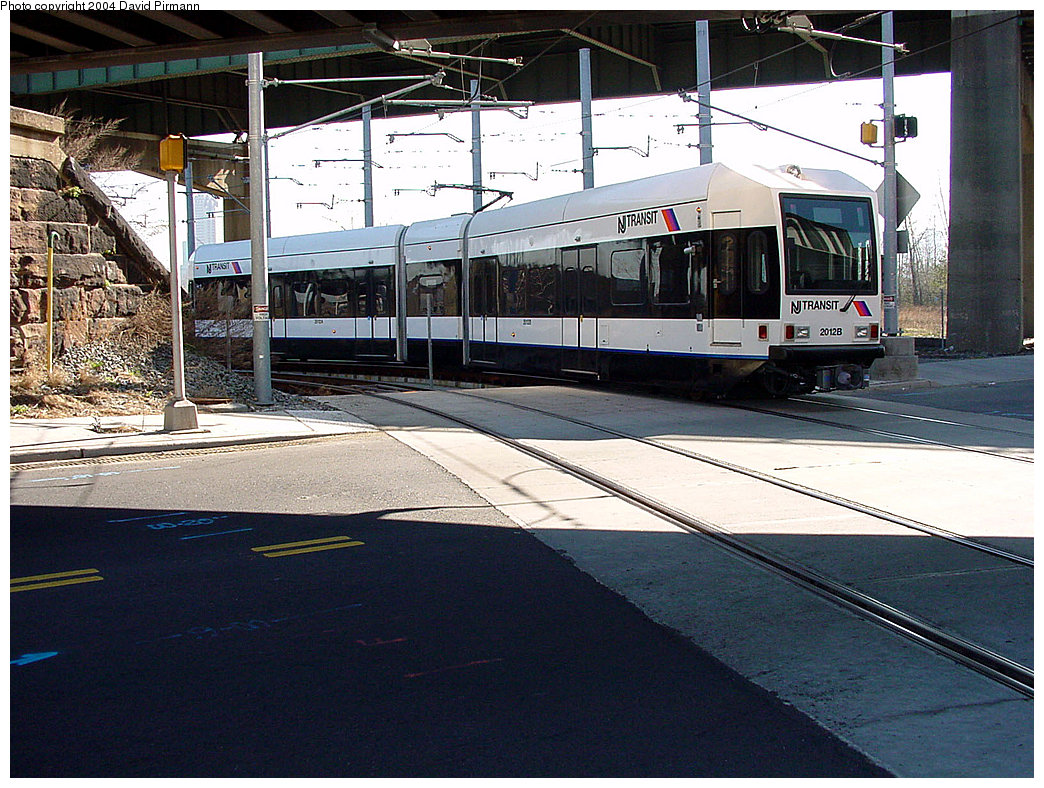 (288k, 1044x788)<br><b>Country:</b> United States<br><b>City:</b> Jersey City, NJ<br><b>System:</b> Hudson Bergen Light Rail<br><b>Location:</b> Liberty State Park <br><b>Car:</b> NJT-HBLR LRV (Kinki-Sharyo, 1998-99)  2012 <br><b>Photo by:</b> David Pirmann<br><b>Date:</b> 3/25/2000<br><b>Viewed (this week/total):</b> 1 / 2172