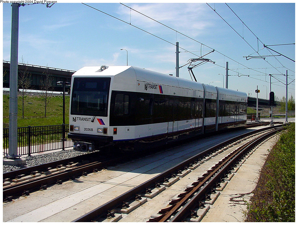 (298k, 1044x788)<br><b>Country:</b> United States<br><b>City:</b> Jersey City, NJ<br><b>System:</b> Hudson Bergen Light Rail<br><b>Location:</b> Liberty State Park <br><b>Car:</b> NJT-HBLR LRV (Kinki-Sharyo, 1998-99)  2026 <br><b>Photo by:</b> David Pirmann<br><b>Date:</b> 4/29/2000<br><b>Viewed (this week/total):</b> 0 / 2219