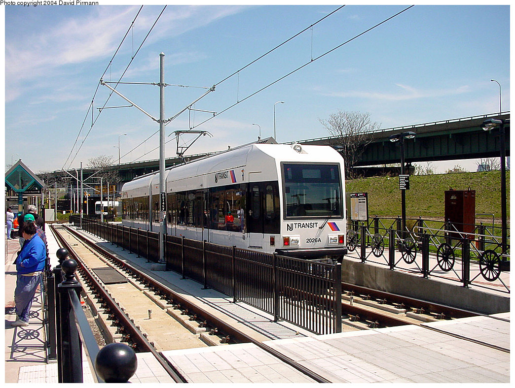 (308k, 1044x788)<br><b>Country:</b> United States<br><b>City:</b> Jersey City, NJ<br><b>System:</b> Hudson Bergen Light Rail<br><b>Location:</b> Liberty State Park <br><b>Car:</b> NJT-HBLR LRV (Kinki-Sharyo, 1998-99)  2026 <br><b>Photo by:</b> David Pirmann<br><b>Date:</b> 4/29/2000<br><b>Viewed (this week/total):</b> 3 / 2464