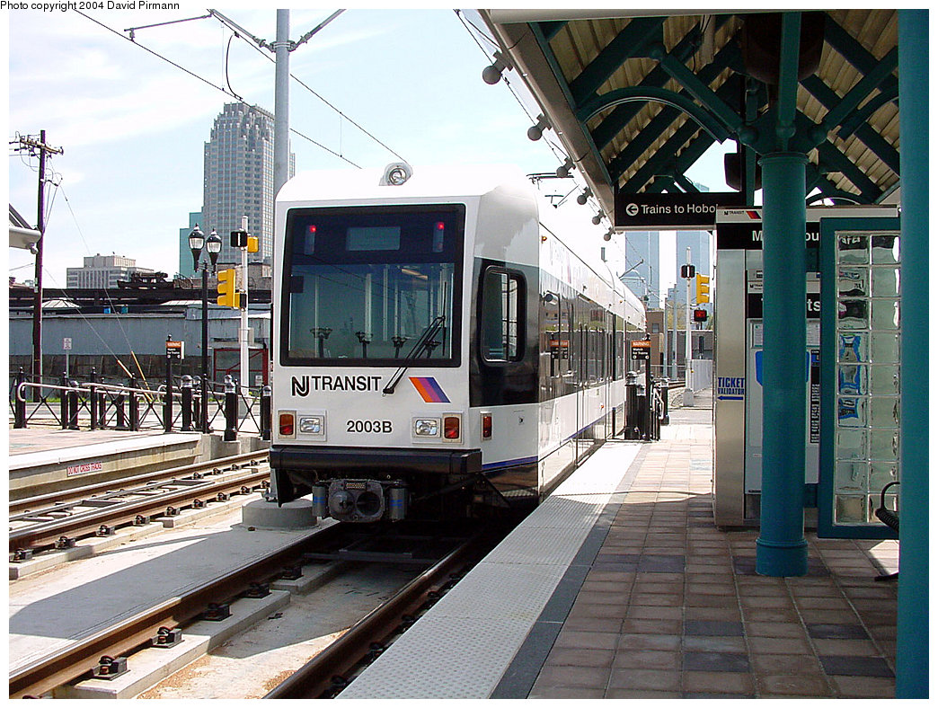 (299k, 1044x788)<br><b>Country:</b> United States<br><b>City:</b> Jersey City, NJ<br><b>System:</b> Hudson Bergen Light Rail<br><b>Location:</b> Marin Boulevard <br><b>Car:</b> NJT-HBLR LRV (Kinki-Sharyo, 1998-99)  2003 <br><b>Photo by:</b> David Pirmann<br><b>Date:</b> 4/29/2000<br><b>Viewed (this week/total):</b> 2 / 2756