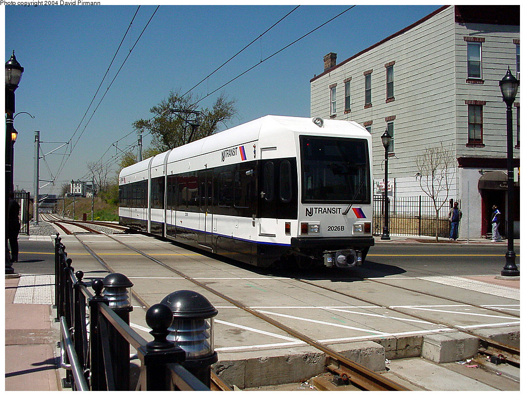 (313k, 1044x788)<br><b>Country:</b> United States<br><b>City:</b> Jersey City, NJ<br><b>System:</b> Hudson Bergen Light Rail<br><b>Location:</b> Martin Luther King Drive <br><b>Car:</b> NJT-HBLR LRV (Kinki-Sharyo, 1998-99)  2026 <br><b>Photo by:</b> David Pirmann<br><b>Date:</b> 4/29/2000<br><b>Viewed (this week/total):</b> 0 / 3496