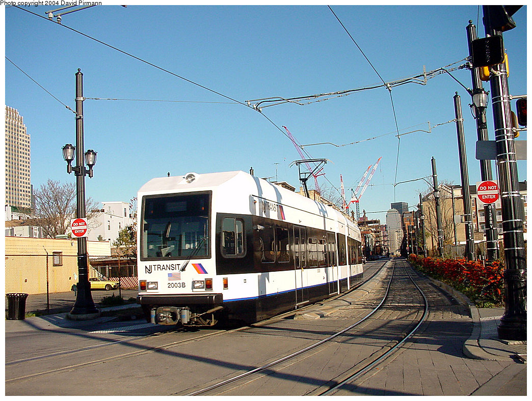 (307k, 1044x788)<br><b>Country:</b> United States<br><b>City:</b> Jersey City, NJ<br><b>System:</b> Hudson Bergen Light Rail<br><b>Location:</b> Van Vorst Street <br><b>Car:</b> NJT-HBLR LRV (Kinki-Sharyo, 1998-99)  2003 <br><b>Photo by:</b> David Pirmann<br><b>Date:</b> 11/11/2001<br><b>Viewed (this week/total):</b> 0 / 3481