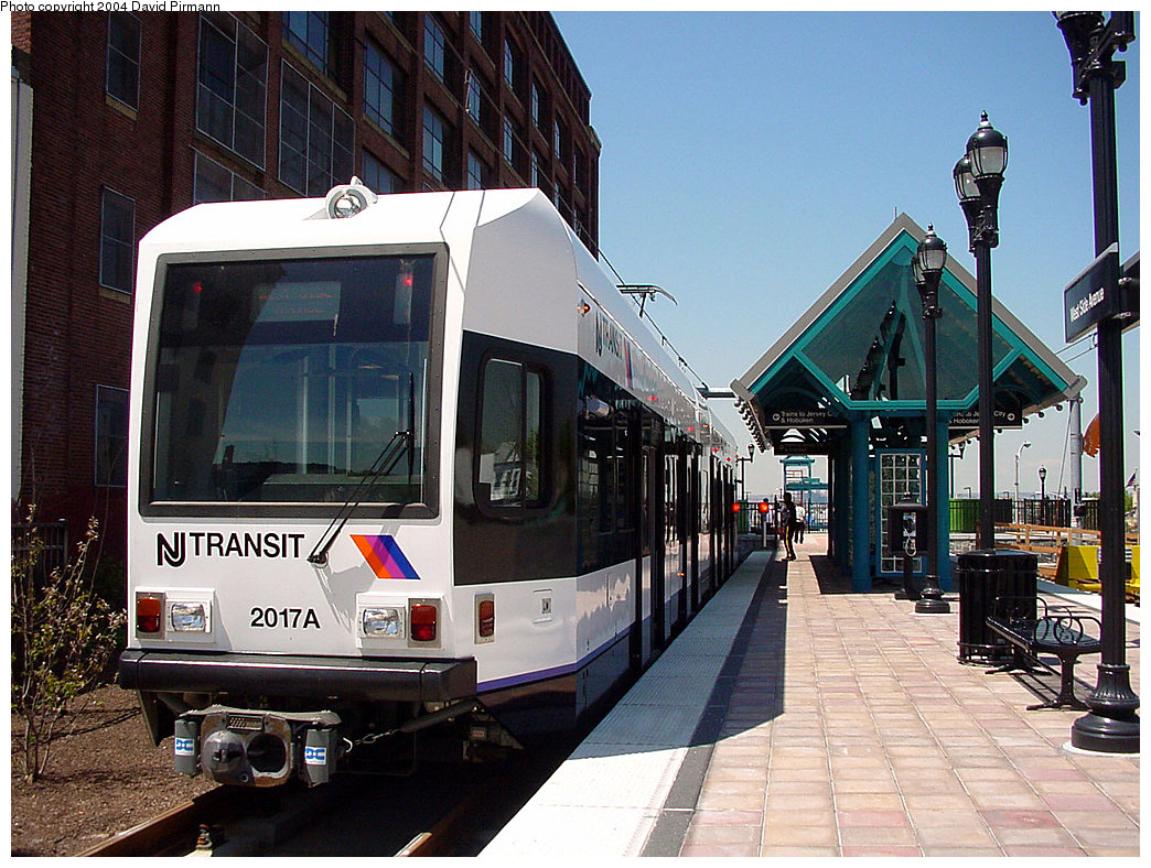 (287k, 1044x788)<br><b>Country:</b> United States<br><b>City:</b> Jersey City, NJ<br><b>System:</b> Hudson Bergen Light Rail<br><b>Location:</b> West Side Avenue <br><b>Car:</b> NJT-HBLR LRV (Kinki-Sharyo, 1998-99)  2017 <br><b>Photo by:</b> David Pirmann<br><b>Date:</b> 4/29/2000<br><b>Viewed (this week/total):</b> 0 / 3168
