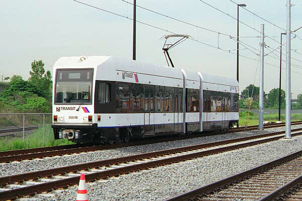 (125k, 600x400)<br><b>Country:</b> United States<br><b>City:</b> Jersey City, NJ<br><b>System:</b> Hudson Bergen Light Rail<br><b>Location:</b> HBLR Shops/Yard <br><b>Car:</b> NJT-HBLR LRV (Kinki-Sharyo, 1998-99)  2001 <br><b>Photo by:</b> Sidney Keyles<br><b>Date:</b> 6/5/1999<br><b>Viewed (this week/total):</b> 1 / 2678