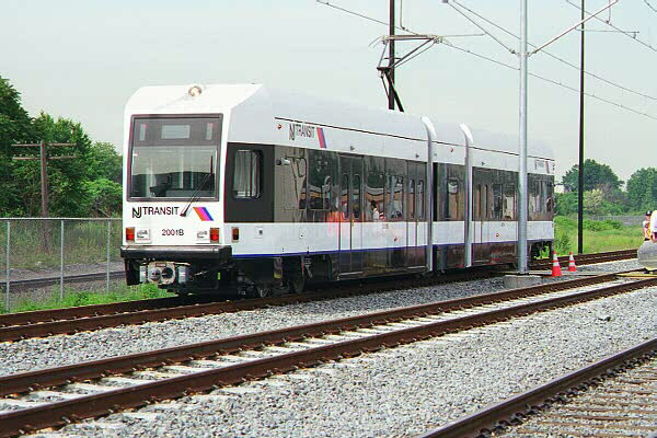(134k, 600x400)<br><b>Country:</b> United States<br><b>City:</b> Jersey City, NJ<br><b>System:</b> Hudson Bergen Light Rail<br><b>Location:</b> HBLR Shops/Yard <br><b>Car:</b> NJT-HBLR LRV (Kinki-Sharyo, 1998-99)  2001 <br><b>Photo by:</b> Sidney Keyles<br><b>Date:</b> 6/5/1999<br><b>Viewed (this week/total):</b> 5 / 2843