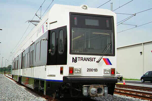 (77k, 600x400)<br><b>Country:</b> United States<br><b>City:</b> Jersey City, NJ<br><b>System:</b> Hudson Bergen Light Rail<br><b>Location:</b> HBLR Shops/Yard <br><b>Car:</b> NJT-HBLR LRV (Kinki-Sharyo, 1998-99)  2001 <br><b>Photo by:</b> Sidney Keyles<br><b>Date:</b> 6/5/1999<br><b>Viewed (this week/total):</b> 0 / 1483