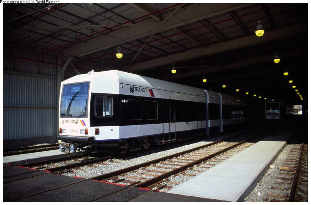 (166k, 1044x688)<br><b>Country:</b> United States<br><b>City:</b> Jersey City, NJ<br><b>System:</b> Hudson Bergen Light Rail<br><b>Location:</b> HBLR Shops/Yard <br><b>Car:</b> NJT-HBLR LRV (Kinki-Sharyo, 1998-99)  2012 <br><b>Photo by:</b> David Pirmann<br><b>Date:</b> 10/2/1999<br><b>Viewed (this week/total):</b> 1 / 2365