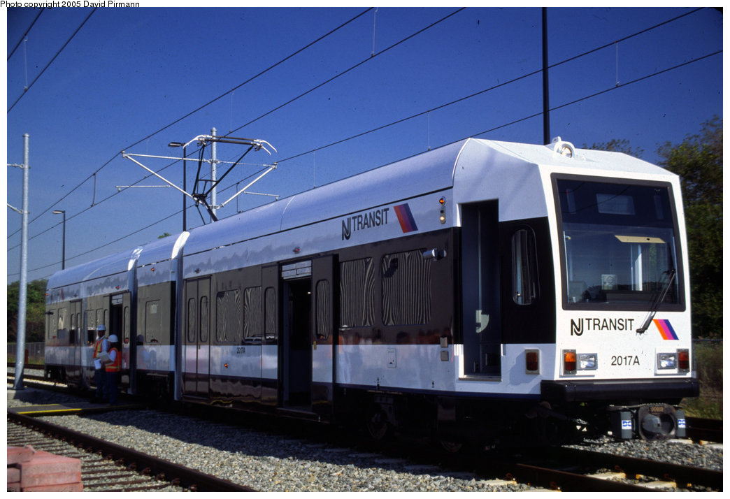 (172k, 1044x714)<br><b>Country:</b> United States<br><b>City:</b> Jersey City, NJ<br><b>System:</b> Hudson Bergen Light Rail<br><b>Location:</b> HBLR Shops/Yard <br><b>Car:</b> NJT-HBLR LRV (Kinki-Sharyo, 1998-99)  2017 <br><b>Photo by:</b> David Pirmann<br><b>Date:</b> 10/2/1999<br><b>Viewed (this week/total):</b> 0 / 2857