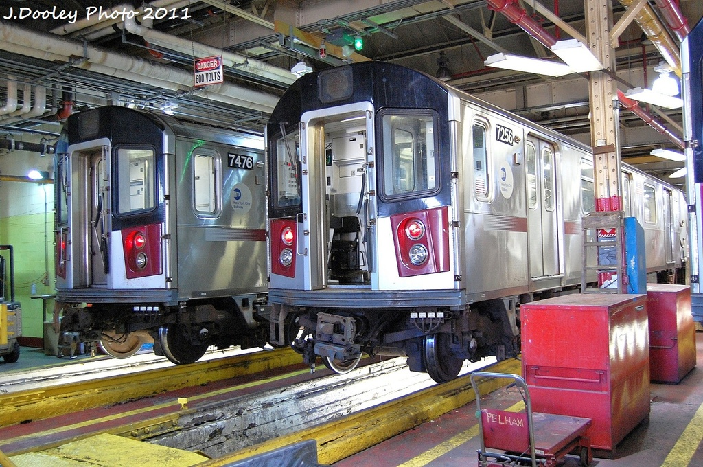(431k, 1024x680)<br><b>Country:</b> United States<br><b>City:</b> New York<br><b>System:</b> New York City Transit<br><b>Location:</b> Westchester Yard<br><b>Car:</b> R-142A (Primary Order, Kawasaki, 1999-2002)  7476/7256 <br><b>Photo by:</b> John Dooley<br><b>Date:</b> 11/5/2011<br><b>Viewed (this week/total):</b> 1 / 281