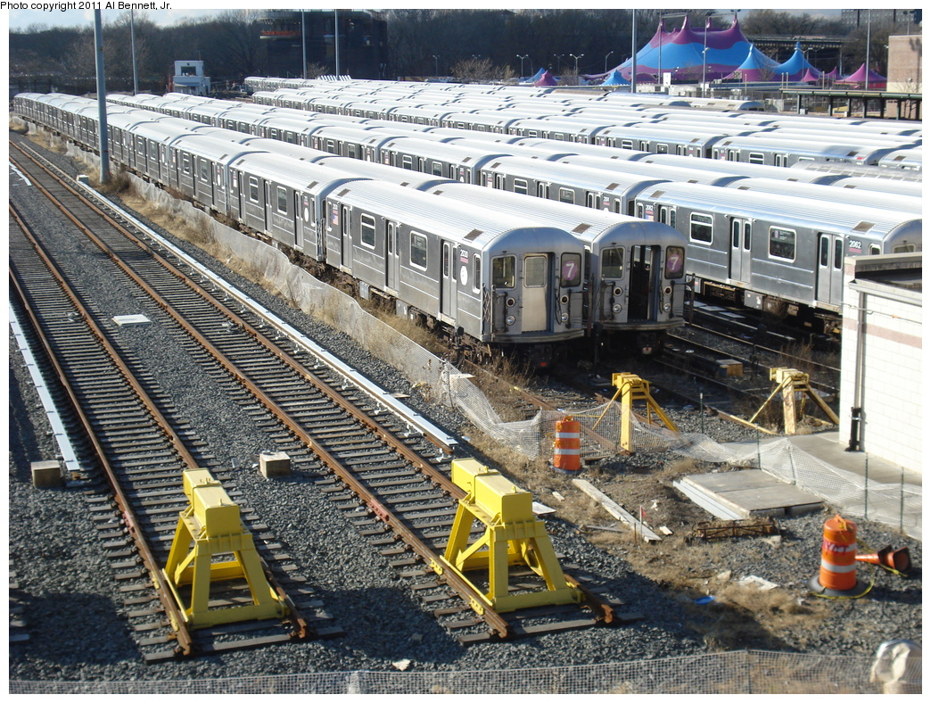 (508k, 1044x788)<br><b>Country:</b> United States<br><b>City:</b> New York<br><b>System:</b> New York City Transit<br><b>Location:</b> Corona Yard<br><b>Car:</b> R-62A (Bombardier, 1984-1987)  2030 <br><b>Photo by:</b> Al Bennett, Jr.<br><b>Date:</b> 12/1/2008<br><b>Viewed (this week/total):</b> 1 / 227