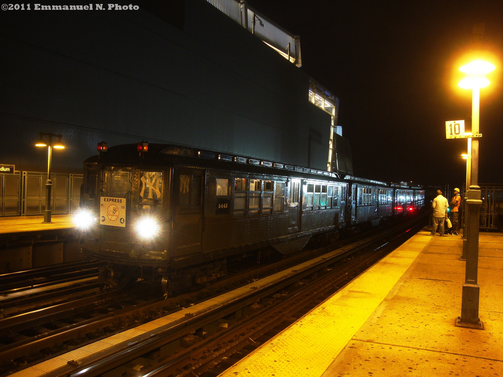 (226k, 1024x768)<br><b>Country:</b> United States<br><b>City:</b> New York<br><b>System:</b> New York City Transit<br><b>Line:</b> IRT Woodlawn Line<br><b>Location:</b> 161st Street/River Avenue (Yankee Stadium) <br><b>Route:</b> Fan Trip<br><b>Car:</b> Low-V 5443 <br><b>Photo by:</b> Emmanuel Nicolas<br><b>Notes:</b> Yankees Special service<br><b>Viewed (this week/total):</b> 1 / 448