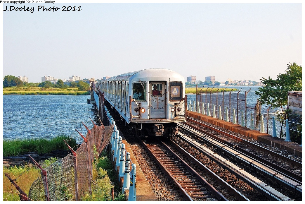 (417k, 1044x697)<br><b>Country:</b> United States<br><b>City:</b> New York<br><b>System:</b> New York City Transit<br><b>Line:</b> IND Rockaway<br><b>Location:</b> Broad Channel <br><b>Route:</b> A<br><b>Car:</b> R-42 (St. Louis, 1969-1970)  4800 <br><b>Photo by:</b> John Dooley<br><b>Date:</b> 8/20/2011<br><b>Viewed (this week/total):</b> 0 / 1052