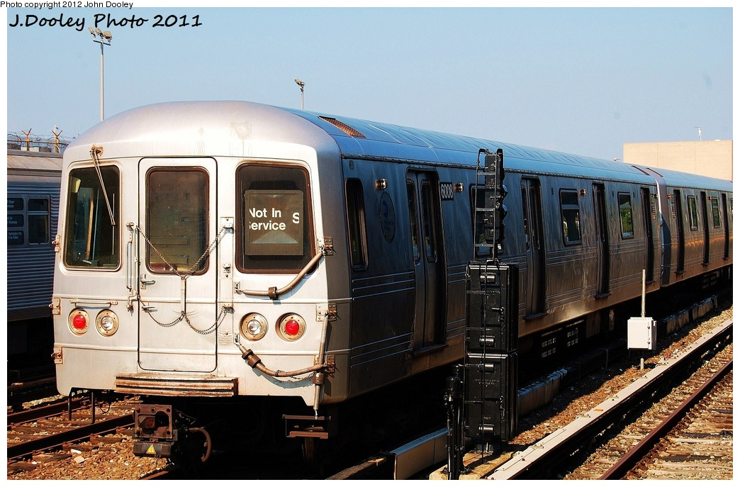 (341k, 1044x687)<br><b>Country:</b> United States<br><b>City:</b> New York<br><b>System:</b> New York City Transit<br><b>Location:</b> Rockaway Park Yard<br><b>Car:</b> R-46 (Pullman-Standard, 1974-75) 6008 <br><b>Photo by:</b> John Dooley<br><b>Date:</b> 8/20/2011<br><b>Viewed (this week/total):</b> 2 / 424