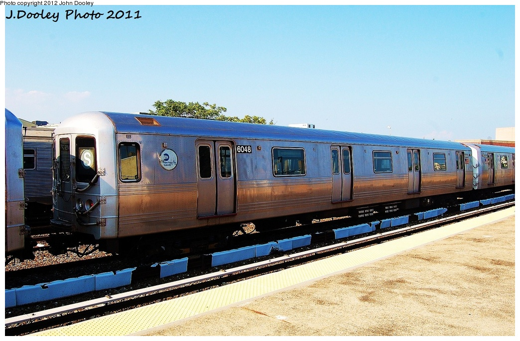 (353k, 1044x686)<br><b>Country:</b> United States<br><b>City:</b> New York<br><b>System:</b> New York City Transit<br><b>Location:</b> Rockaway Park Yard<br><b>Car:</b> R-46 (Pullman-Standard, 1974-75) 6048 <br><b>Photo by:</b> John Dooley<br><b>Date:</b> 8/20/2011<br><b>Viewed (this week/total):</b> 0 / 233