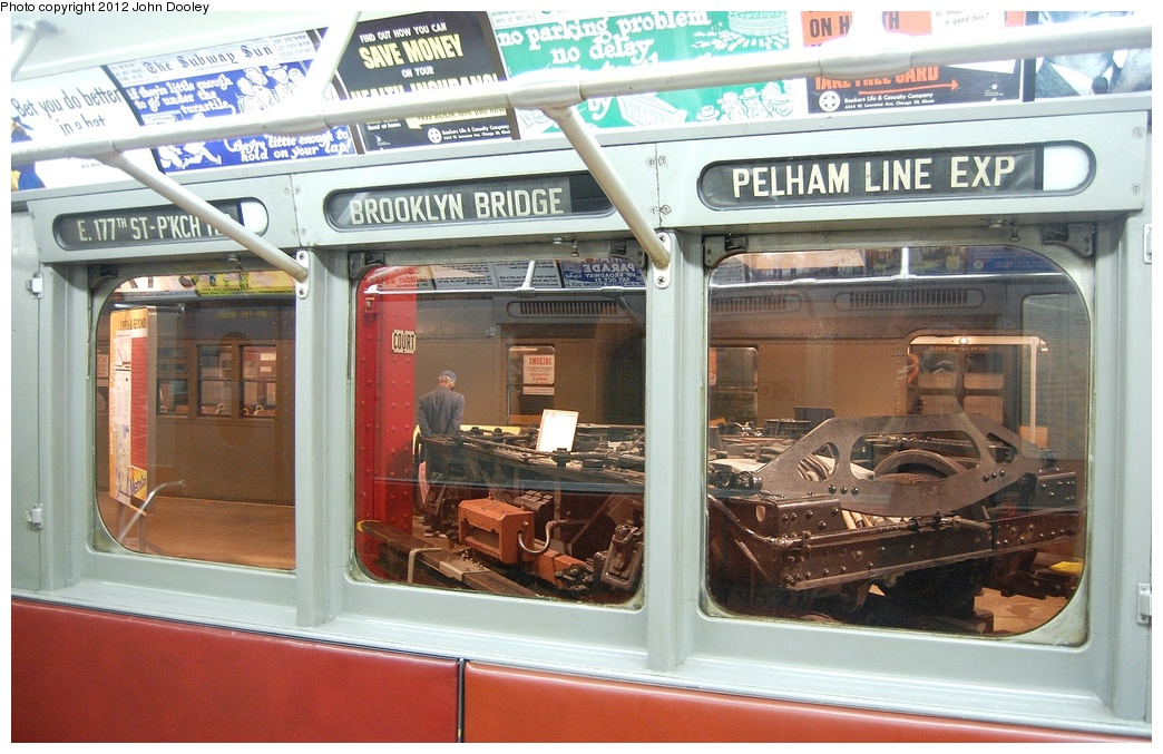 (341k, 1044x677)<br><b>Country:</b> United States<br><b>City:</b> New York<br><b>System:</b> New York City Transit<br><b>Location:</b> New York Transit Museum<br><b>Car:</b> R-12 (American Car & Foundry, 1948) 5760 <br><b>Photo by:</b> John Dooley<br><b>Date:</b> 10/2/2011<br><b>Viewed (this week/total):</b> 1 / 563