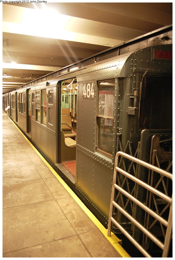 (357k, 701x1044)<br><b>Country:</b> United States<br><b>City:</b> New York<br><b>System:</b> New York City Transit<br><b>Location:</b> New York Transit Museum<br><b>Car:</b> R-4 (American Car & Foundry, 1932-1933) 484 <br><b>Photo by:</b> John Dooley<br><b>Date:</b> 10/2/2011<br><b>Viewed (this week/total):</b> 3 / 573