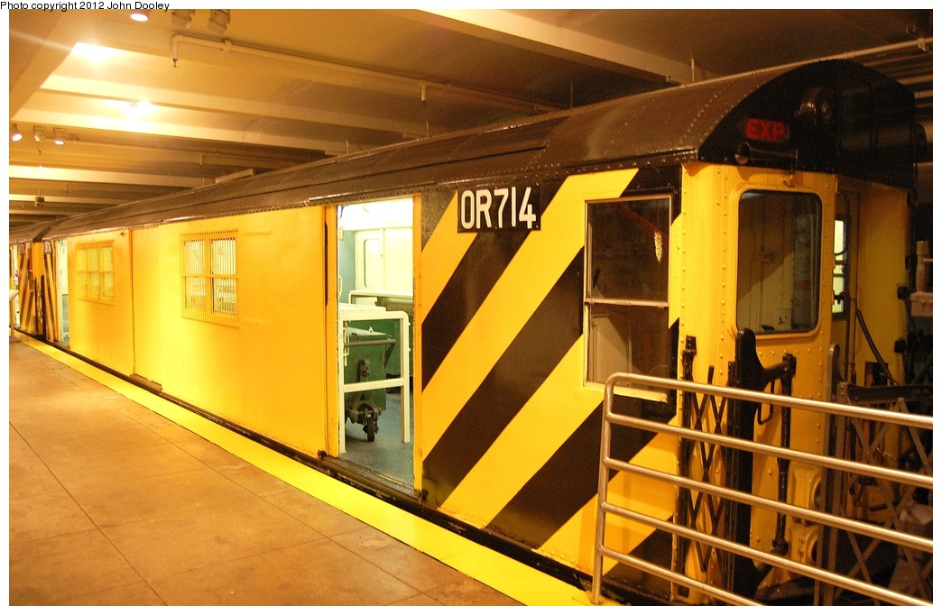 (327k, 1044x682)<br><b>Country:</b> United States<br><b>City:</b> New York<br><b>System:</b> New York City Transit<br><b>Location:</b> New York Transit Museum<br><b>Car:</b> R-95 Revenue Collector 0R715 <br><b>Photo by:</b> John Dooley<br><b>Date:</b> 10/2/2011<br><b>Viewed (this week/total):</b> 0 / 301