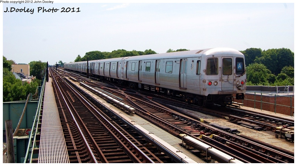 (323k, 1044x584)<br><b>Country:</b> United States<br><b>City:</b> New York<br><b>System:</b> New York City Transit<br><b>Line:</b> IND Fulton Street Line<br><b>Location:</b> 80th Street/Hudson Street <br><b>Route:</b> A<br><b>Car:</b> R-46 (Pullman-Standard, 1974-75) 5888 <br><b>Photo by:</b> John Dooley<br><b>Date:</b> 7/23/2011<br><b>Viewed (this week/total):</b> 1 / 311
