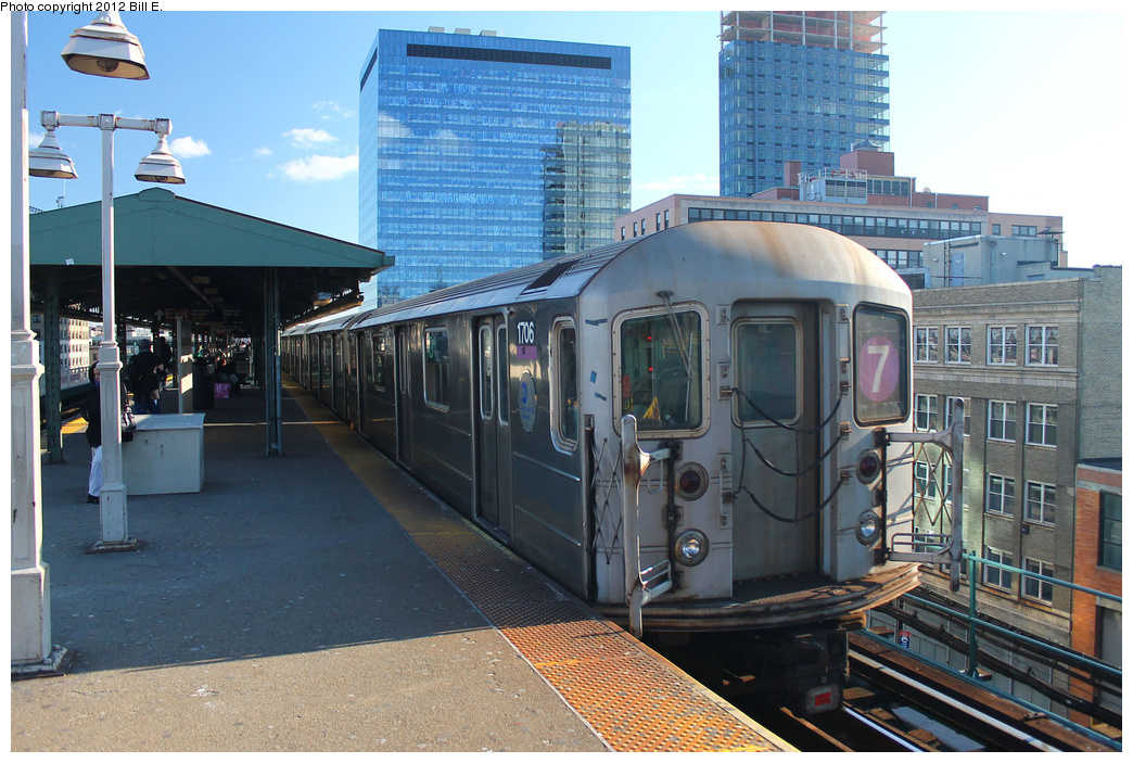 (397k, 1044x703)<br><b>Country:</b> United States<br><b>City:</b> New York<br><b>System:</b> New York City Transit<br><b>Line:</b> IRT Flushing Line<br><b>Location:</b> Queensborough Plaza <br><b>Route:</b> 7<br><b>Car:</b> R-62A (Bombardier, 1984-1987)  1706 <br><b>Photo by:</b> Bill E.<br><b>Date:</b> 12/24/2011<br><b>Viewed (this week/total):</b> 2 / 284