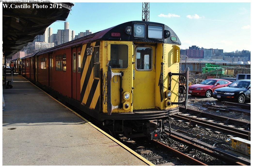 (385k, 1044x694)<br><b>Country:</b> United States<br><b>City:</b> New York<br><b>System:</b> New York City Transit<br><b>Location:</b> 207th Street Yard<br><b>Car:</b> R-33 World's Fair (St. Louis, 1963-64) 9319 <br><b>Photo by:</b> Wilfredo Castillo<br><b>Date:</b> 2/1/2012<br><b>Viewed (this week/total):</b> 1 / 409