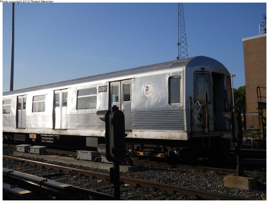 (330k, 1044x788)<br><b>Country:</b> United States<br><b>City:</b> New York<br><b>System:</b> New York City Transit<br><b>Location:</b> East New York Yard/Shops<br><b>Car:</b> R-42 (St. Louis, 1969-1970)  4797 <br><b>Photo by:</b> Robert Mencher<br><b>Date:</b> 5/12/2011<br><b>Viewed (this week/total):</b> 0 / 170
