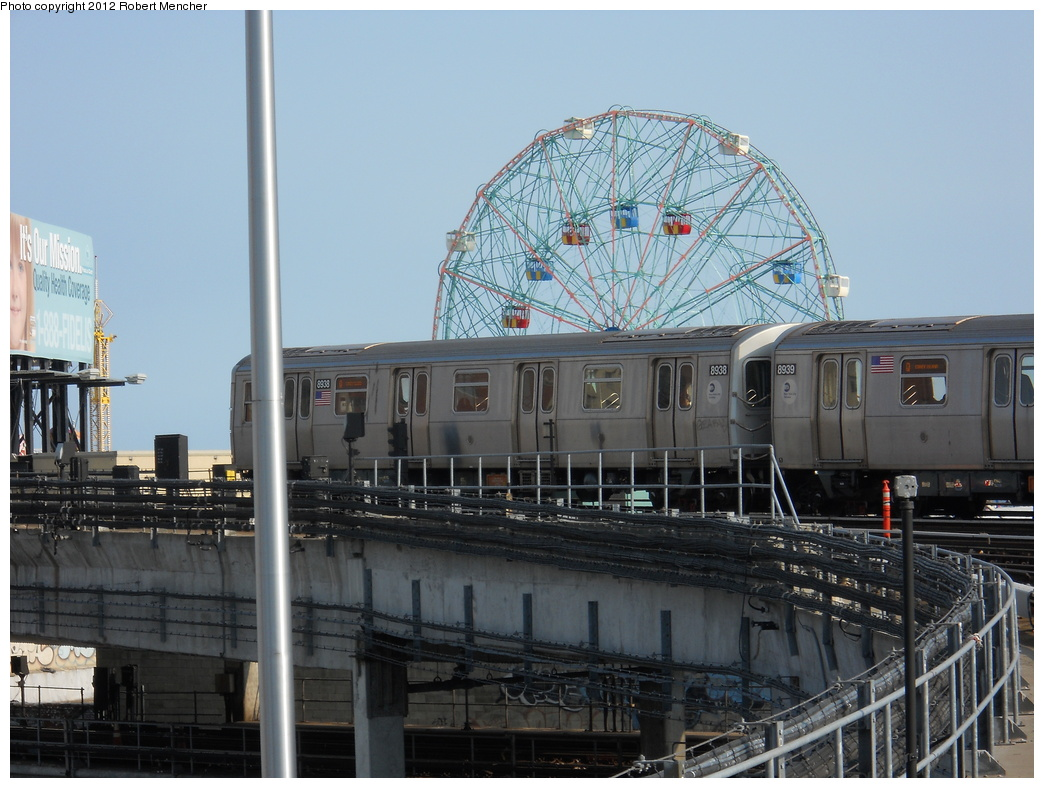 (360k, 1044x788)<br><b>Country:</b> United States<br><b>City:</b> New York<br><b>System:</b> New York City Transit<br><b>Location:</b> Coney Island/Stillwell Avenue<br><b>Route:</b> Q<br><b>Car:</b> R-160B (Kawasaki, 2005-2008)  8938 <br><b>Photo by:</b> Robert Mencher<br><b>Date:</b> 5/13/2011<br><b>Viewed (this week/total):</b> 0 / 205
