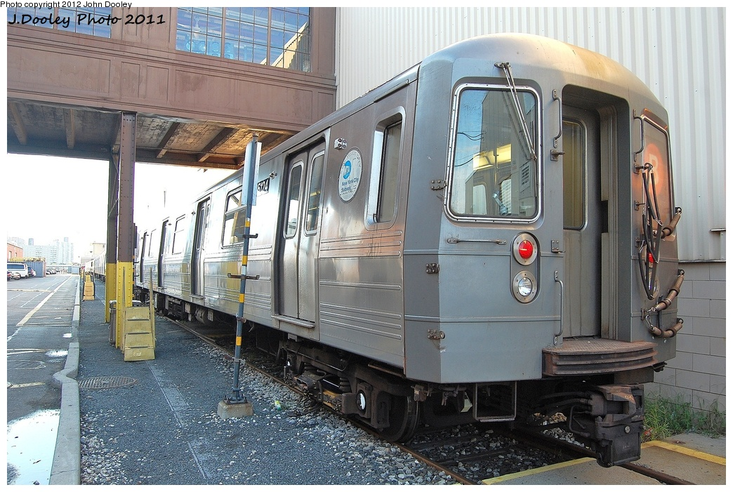 (382k, 1044x701)<br><b>Country:</b> United States<br><b>City:</b> New York<br><b>System:</b> New York City Transit<br><b>Location:</b> Coney Island Yard<br><b>Car:</b> R-68A (Kawasaki, 1988-1989)  5124 <br><b>Photo by:</b> John Dooley<br><b>Date:</b> 10/15/2011<br><b>Viewed (this week/total):</b> 1 / 250