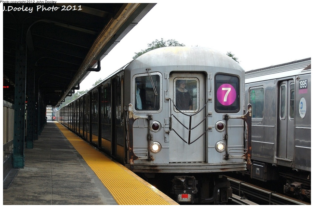 (311k, 1044x694)<br><b>Country:</b> United States<br><b>City:</b> New York<br><b>System:</b> New York City Transit<br><b>Line:</b> IRT Flushing Line<br><b>Location:</b> Willets Point/Mets (fmr. Shea Stadium) <br><b>Route:</b> 7<br><b>Car:</b> R-62A (Bombardier, 1984-1987)  2114 <br><b>Photo by:</b> John Dooley<br><b>Date:</b> 9/20/2011<br><b>Viewed (this week/total):</b> 0 / 238