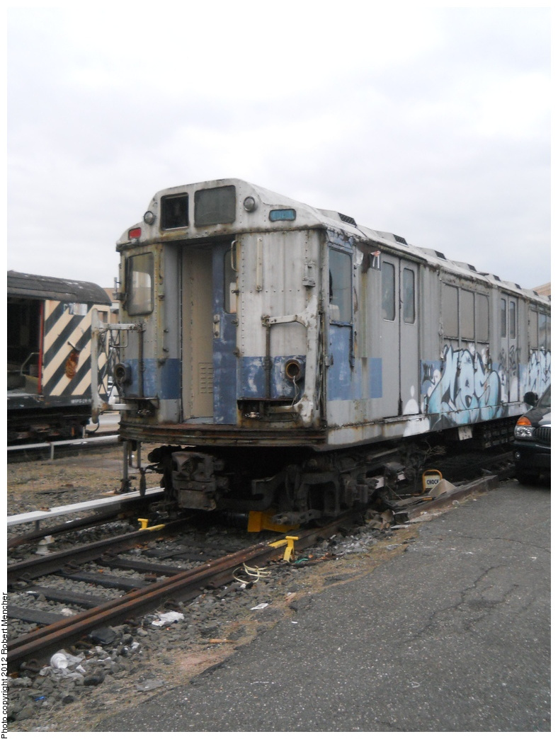 (327k, 788x1044)<br><b>Country:</b> United States<br><b>City:</b> New York<br><b>System:</b> New York City Transit<br><b>Location:</b> 207th Street Yard<br><b>Car:</b> R-14 (American Car & Foundry, 1949) 35871 <br><b>Photo by:</b> Robert Mencher<br><b>Date:</b> 2/11/2012<br><b>Viewed (this week/total):</b> 2 / 548