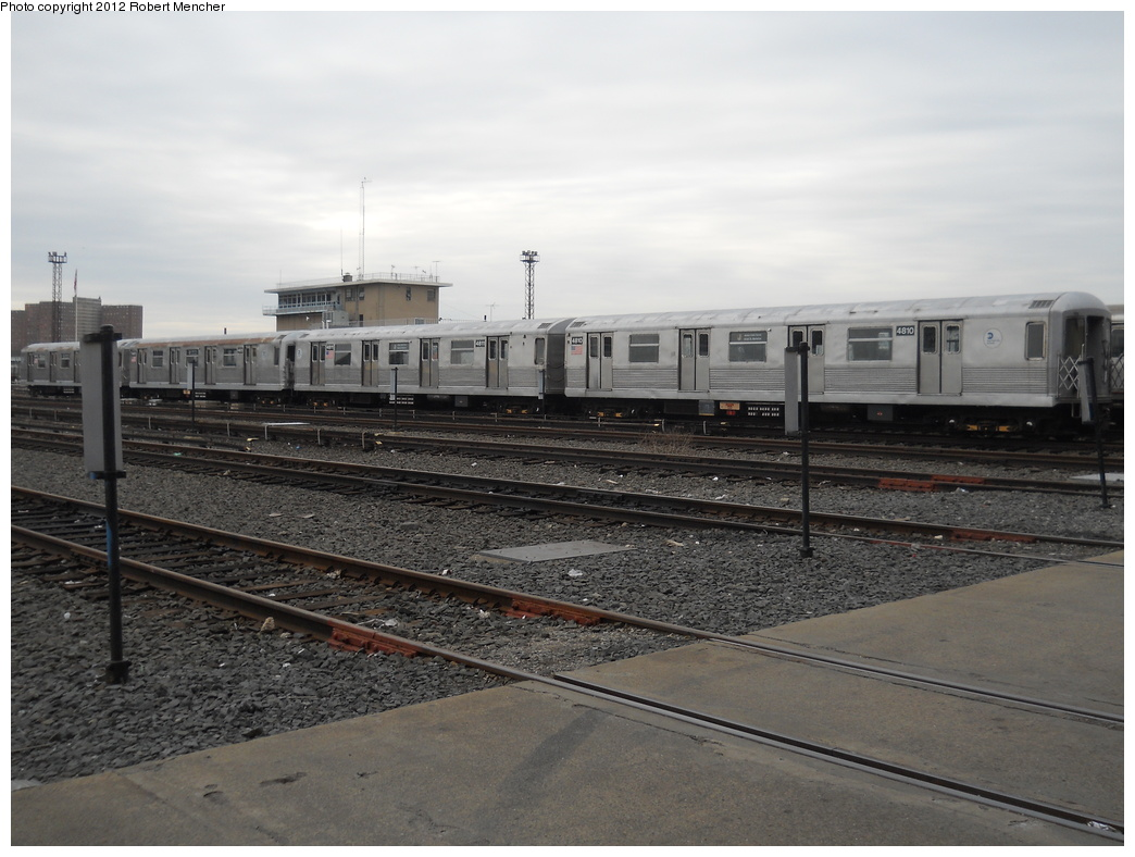 (330k, 1044x788)<br><b>Country:</b> United States<br><b>City:</b> New York<br><b>System:</b> New York City Transit<br><b>Location:</b> Coney Island Yard<br><b>Car:</b> R-42 (St. Louis, 1969-1970)  4810 <br><b>Photo by:</b> Robert Mencher<br><b>Date:</b> 2/14/2012<br><b>Viewed (this week/total):</b> 0 / 282