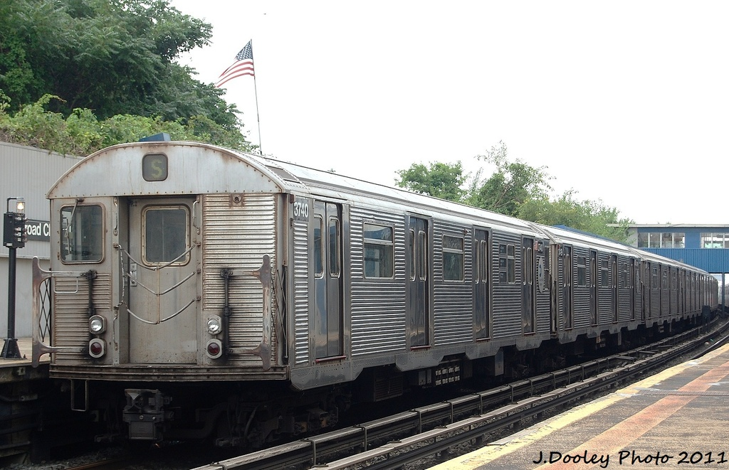 (314k, 1024x661)<br><b>Country:</b> United States<br><b>City:</b> New York<br><b>System:</b> New York City Transit<br><b>Line:</b> IND Rockaway<br><b>Location:</b> Broad Channel <br><b>Route:</b> A<br><b>Car:</b> R-32 (Budd, 1964)  3740 <br><b>Photo by:</b> John Dooley<br><b>Date:</b> 7/24/2011<br><b>Viewed (this week/total):</b> 2 / 246